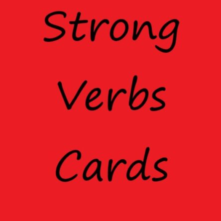 Strong Verbs Cards