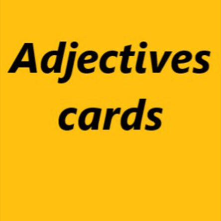 Adjectives cards